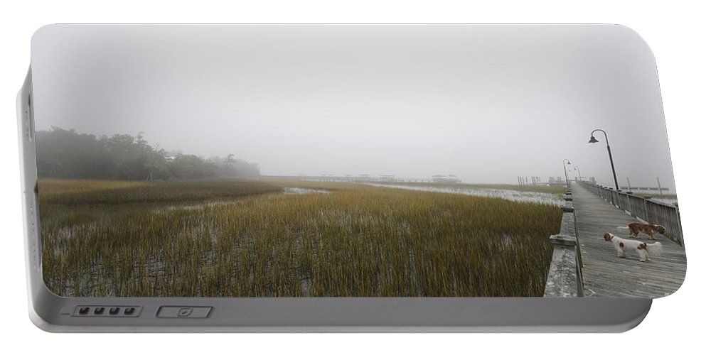 Fog Portable Battery Charger featuring the photograph Opaque Foggy Morning by Dale Powell