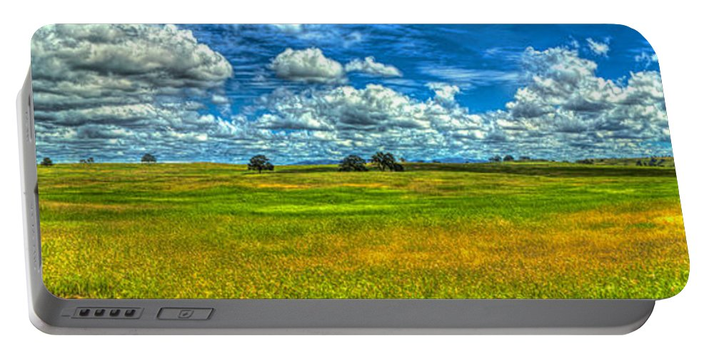 Amador Portable Battery Charger featuring the photograph Open Pastures by SC Heffner