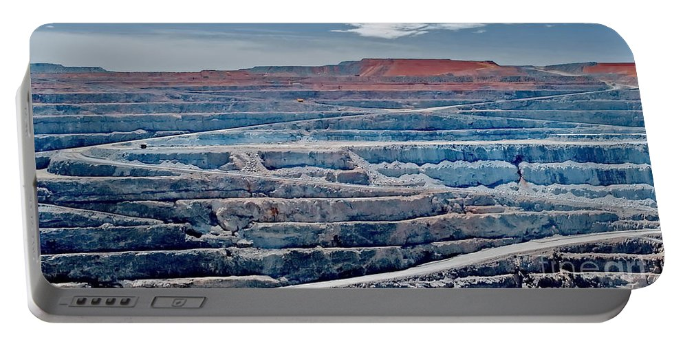 Digital Color Photo Portable Battery Charger featuring the digital art Open Pit Gold by Tim Richards