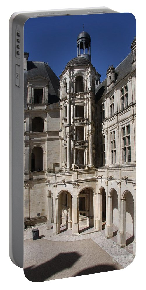Palace Portable Battery Charger featuring the photograph Open Staircase Chateau Chambord - France by Christiane Schulze Art And Photography