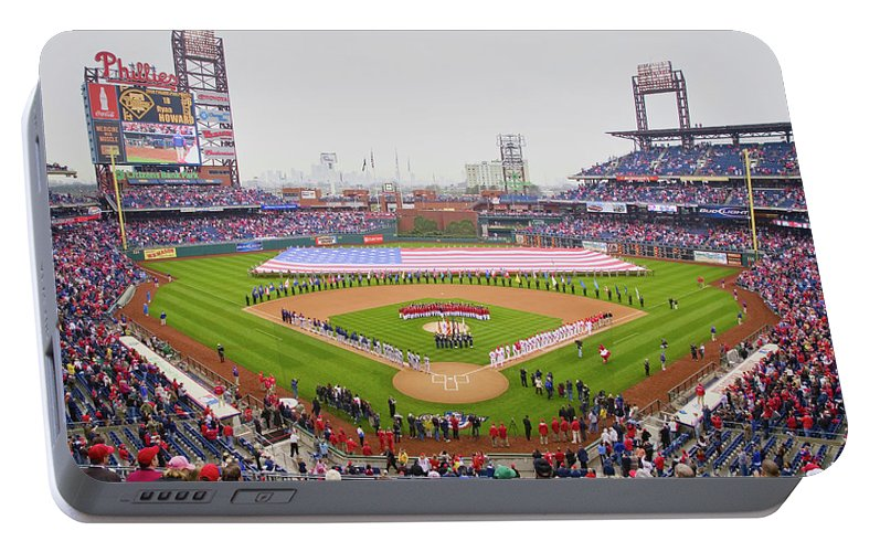 Photography Portable Battery Charger featuring the photograph Opening Day Ceremonies Featuring by Panoramic Images