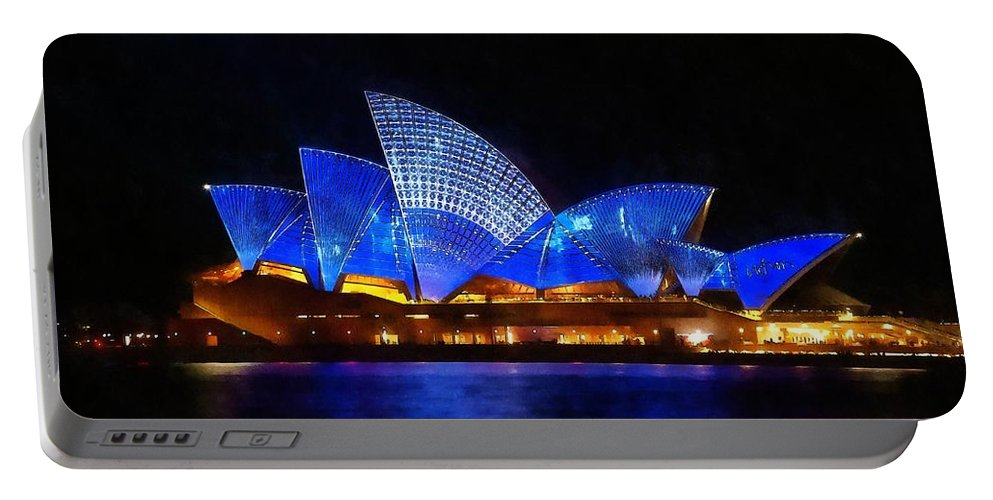 Sydney Portable Battery Charger featuring the painting Opera House Sydney Australia by Fine Art