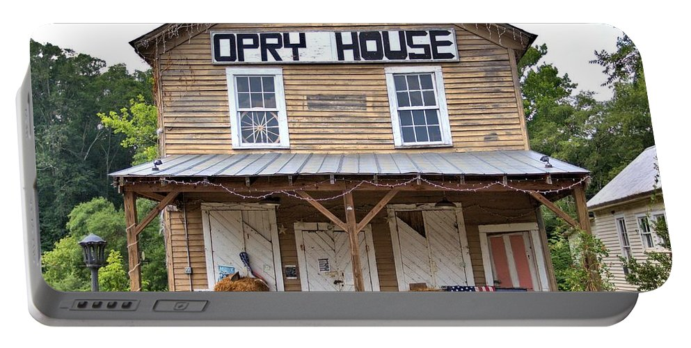 6086 Portable Battery Charger featuring the photograph Opry House - Square by Gordon Elwell