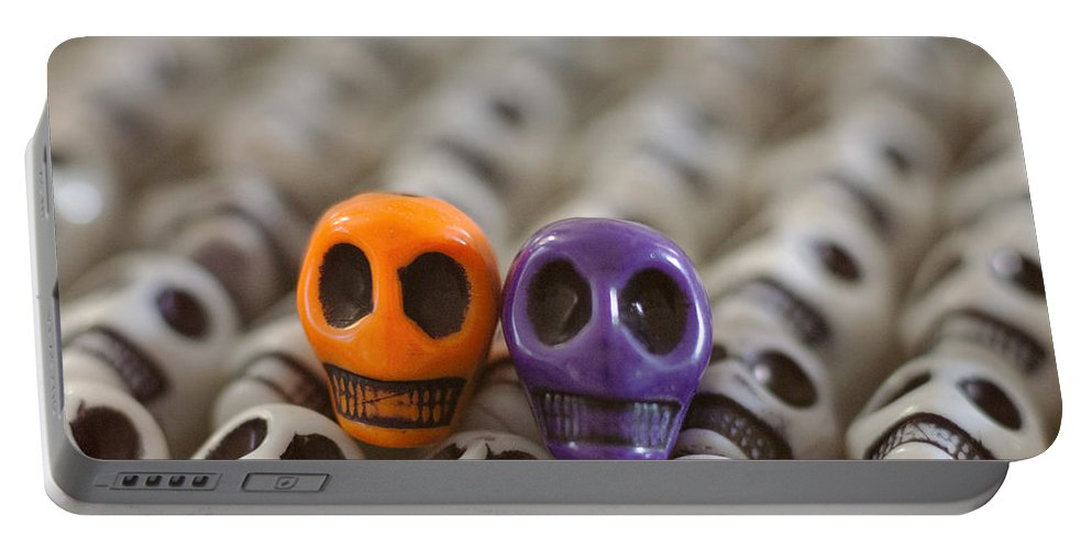 Smiles Portable Battery Charger featuring the photograph Orange And Purple by Mike Herdering