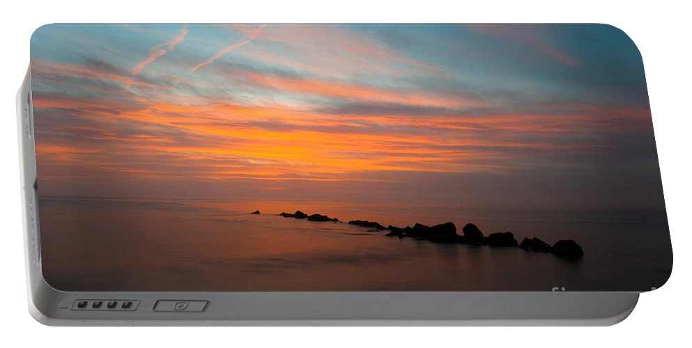 Sunset Portable Battery Charger featuring the photograph Orange Glow by Dale Powell