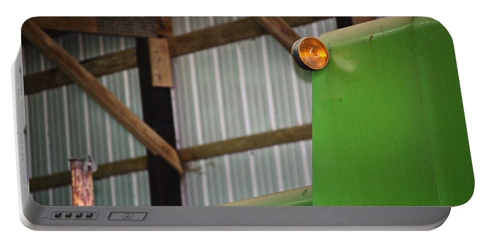John Deere Portable Battery Charger featuring the photograph Orange Light by Christi Kraft