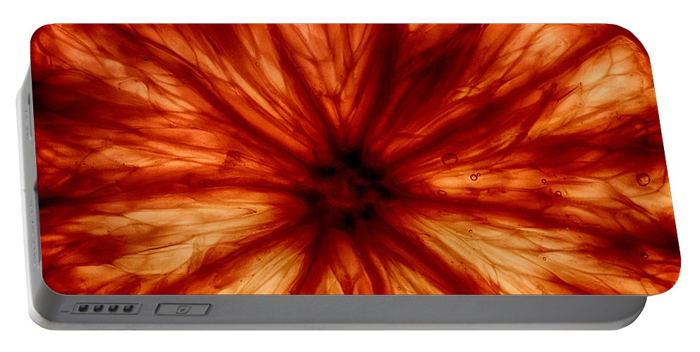 Orange Portable Battery Charger featuring the photograph Orange On Fire by Robert Woodward