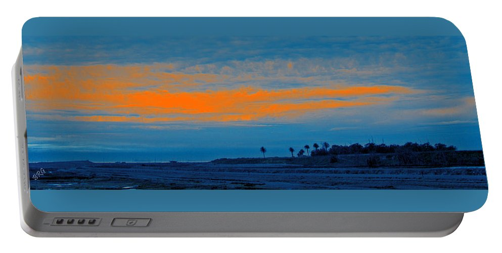 Sunset Portable Battery Charger featuring the photograph Orange Sunset by Ben and Raisa Gertsberg