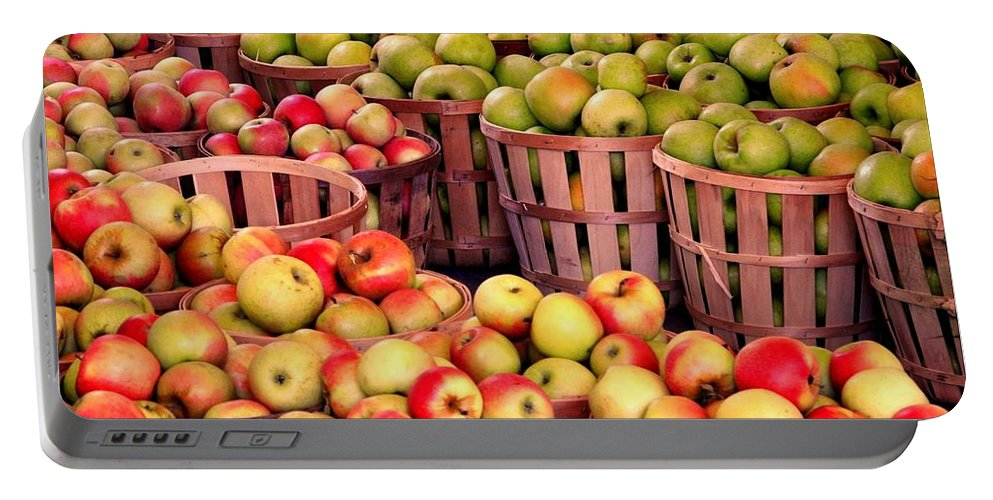 Apples Portable Battery Charger featuring the photograph Orchard Time by Beth Ferris Sale