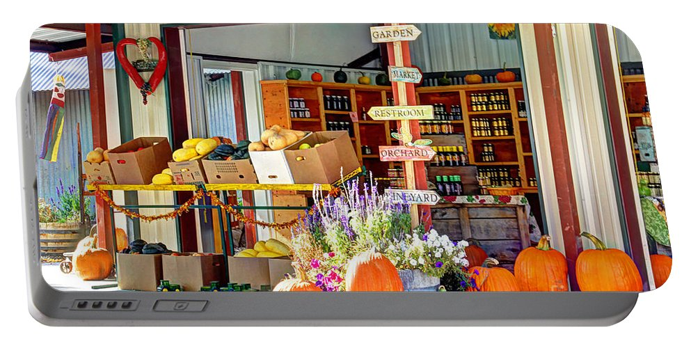 Colorado Portable Battery Charger featuring the photograph Orchard Valley Market by Bob Hislop