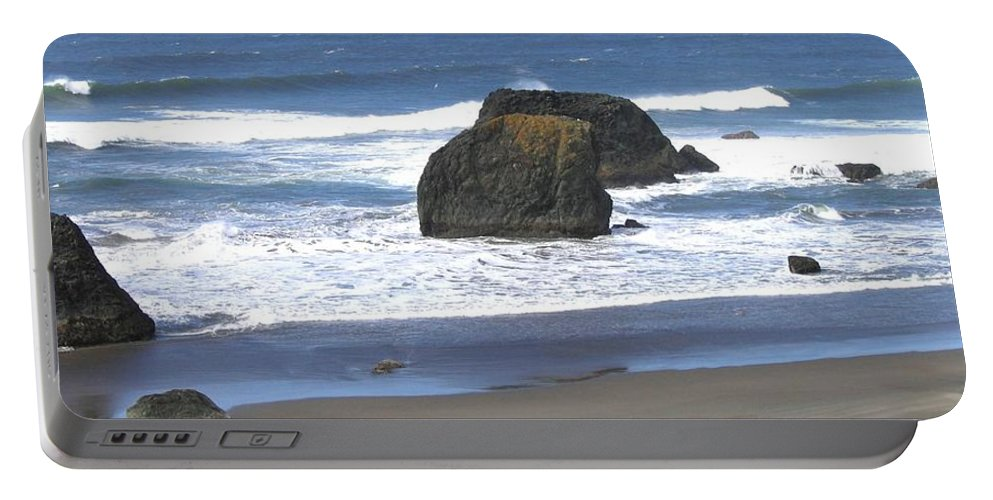 Panorama Portable Battery Charger featuring the photograph Oregon Coast Panorama by Will Borden