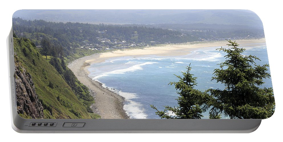 Manzanita Portable Battery Charger featuring the photograph Oregon Coast View by Lee Serenethos