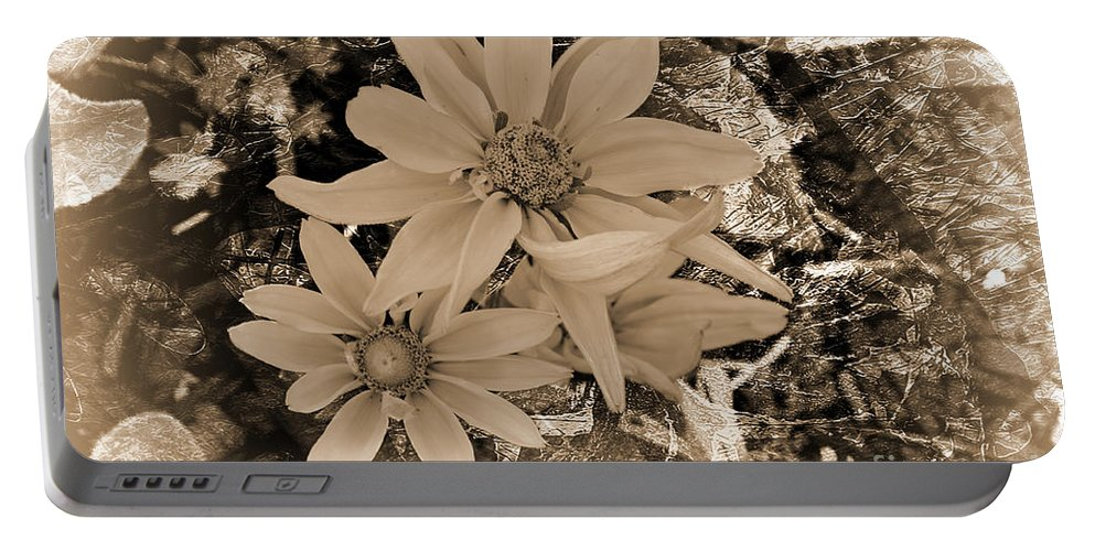 Flower Portable Battery Charger featuring the photograph Monochrome Classic by Beverly Guilliams