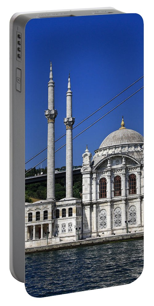 Ortakoy Mosque Portable Battery Charger featuring the photograph Ortakoy Mosque by Sally Weigand