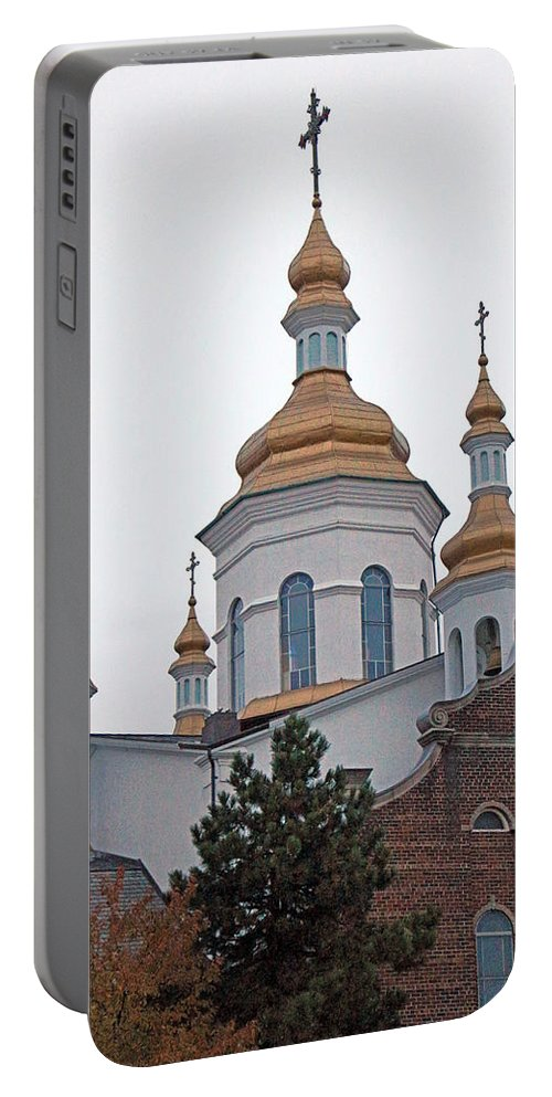Orthodox Portable Battery Charger featuring the photograph Orthodox Crosses by Munir Alawi