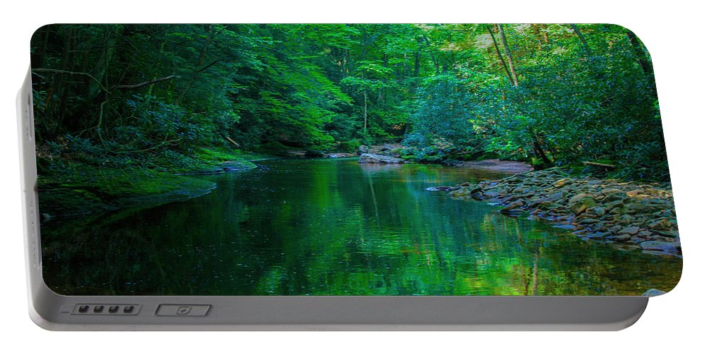 Otter Creek Wilderness Portable Battery Charger featuring the photograph Otter Creek Reflection by John Hannan
