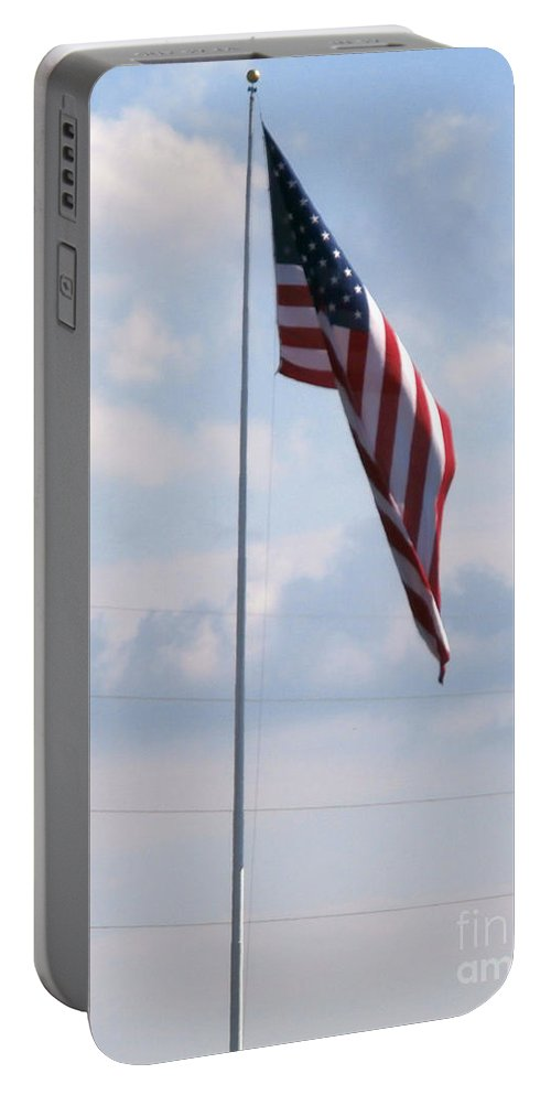 Patriotic Flags Portable Battery Charger featuring the photograph Our Flag by Joseph Baril