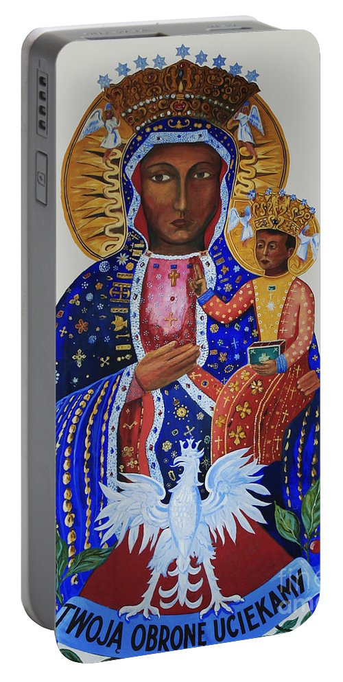 Our Lady. Czestochowa Portable Battery Charger featuring the photograph Our Lady Of Czestochowa by Barbara McMahon