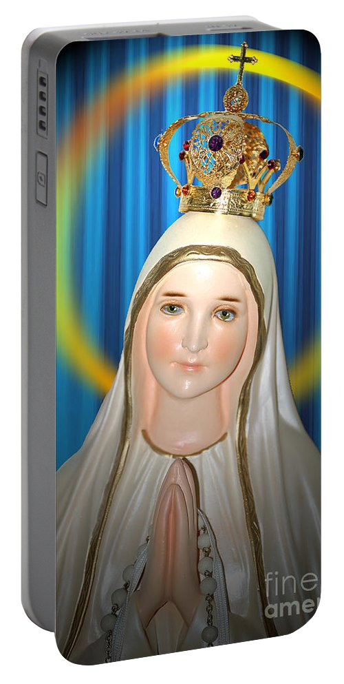 Church Portable Battery Charger featuring the photograph Our Lady Of Fatima by Flamingo Graphix John Ellis