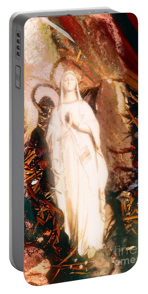 Our Lady Of Lourdes Portable Battery Charger featuring the photograph Our Lady Of Lourdes by Davy Cheng