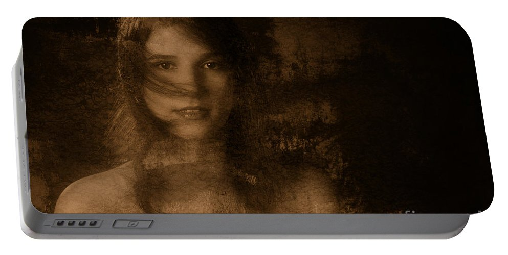 Sheena Manacini Nude Woman Portable Battery Charger featuring the photograph Out Of The Dark 4 by Kendree Miller