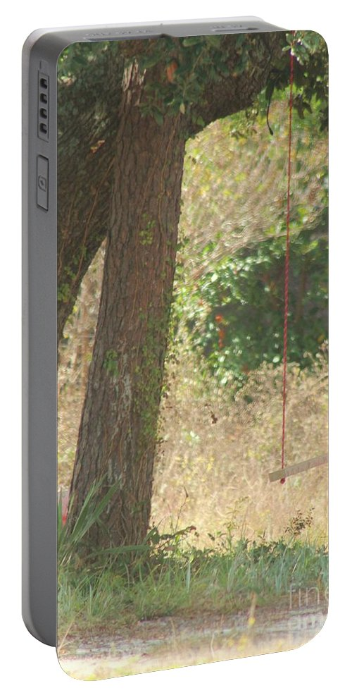 Swing Portable Battery Charger featuring the photograph Outdoor Swing by Michelle Powell
