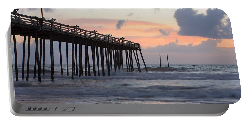 Atlantic Portable Battery Charger featuring the photograph Outer Banks Sunrise by Adam Romanowicz