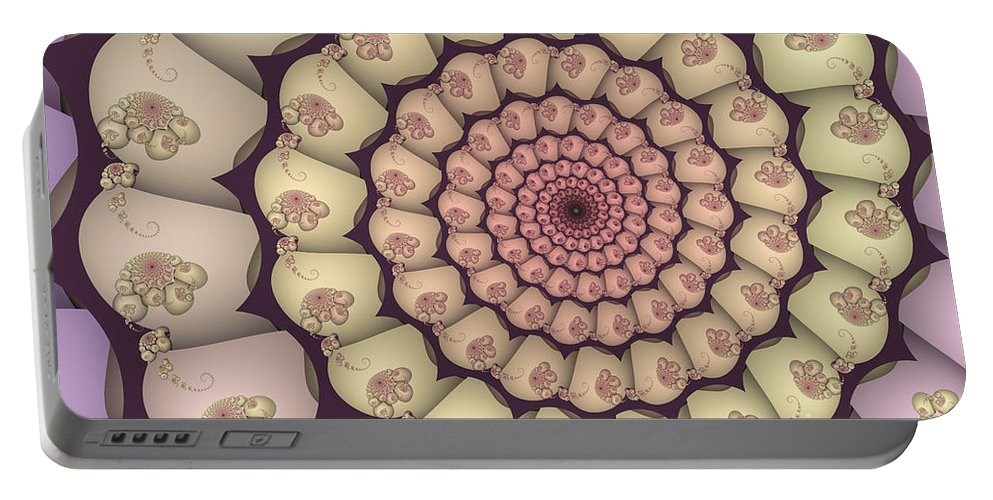 Fractal Portable Battery Charger featuring the digital art Over And Over Again by Jutta Maria Pusl