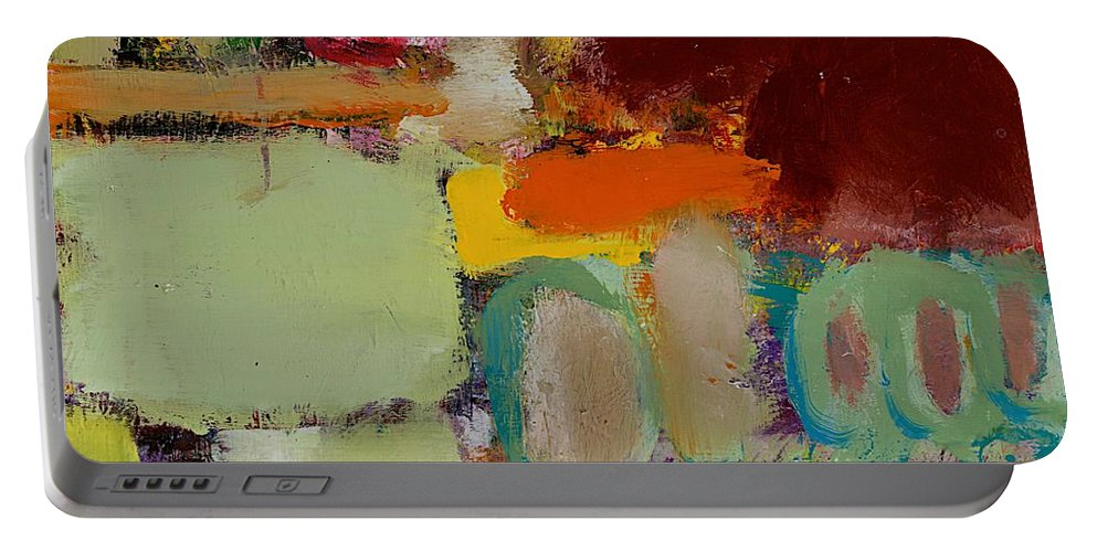 Landscape Portable Battery Charger featuring the painting Over There by Allan P Friedlander