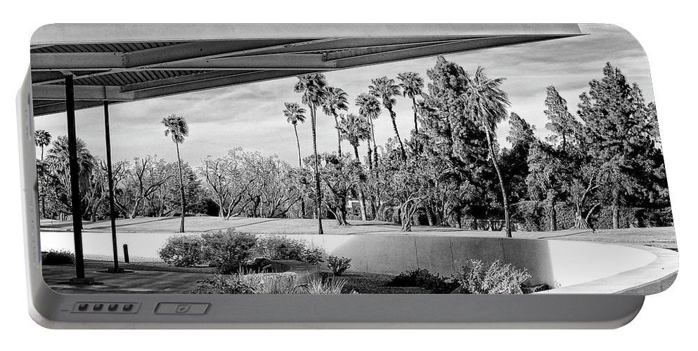 Palm Springs Portable Battery Charger featuring the photograph OVERHANG BW Palm Springs by William Dey