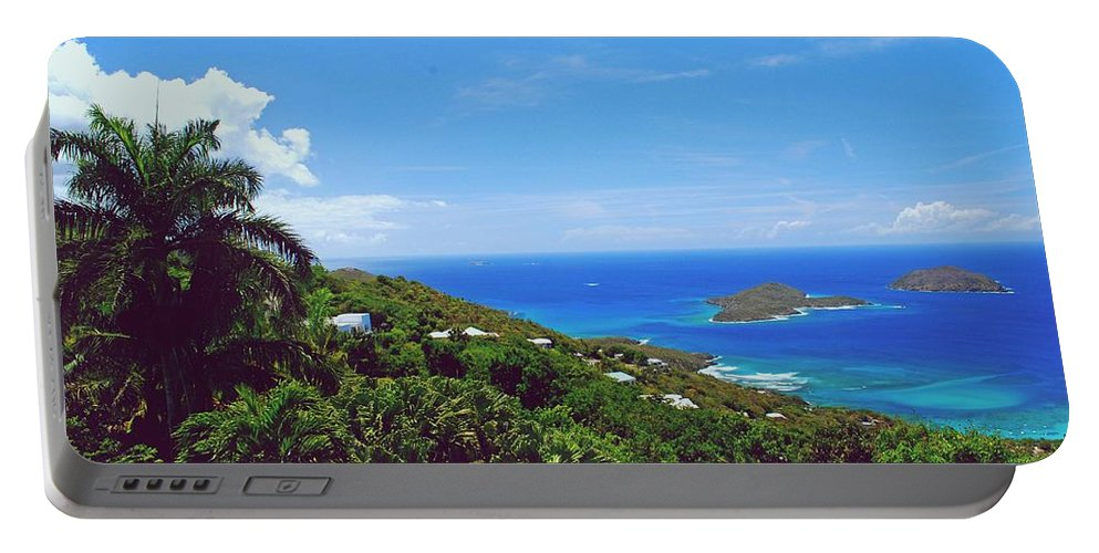 Saint Portable Battery Charger featuring the photograph Overlooking Paradise by Gary Wonning