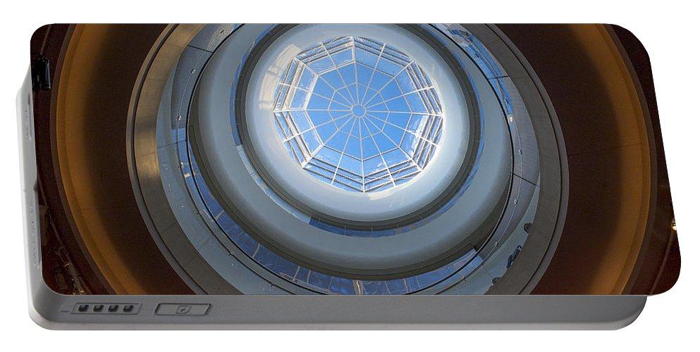 Ralser Portable Battery Charger featuring the photograph Overture Center Rotunda by Steven Ralser