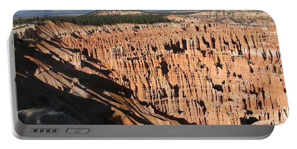 Mountians Portable Battery Charger featuring the photograph Overview At Bryce Canyon by Christiane Schulze Art And Photography