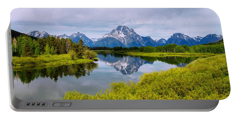 Oxbow Summer Portable Battery Charger featuring the photograph Oxbow Summer by Chad Dutson