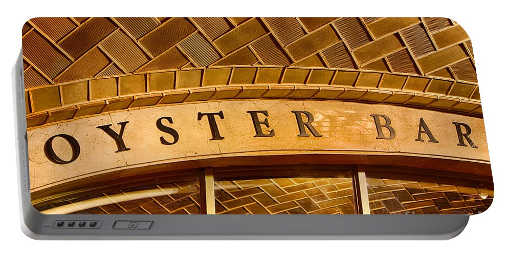 Grand Central Terminal Portable Battery Charger featuring the photograph Oyster Bar by Jerry Fornarotto