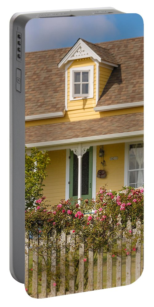 Oysterville Portable Battery Charger featuring the photograph Oysterville Home 8 by Mike Penney