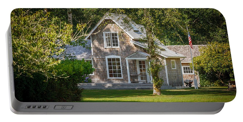 Oysterville Portable Battery Charger featuring the photograph Oysterville House 7 by Mike Penney