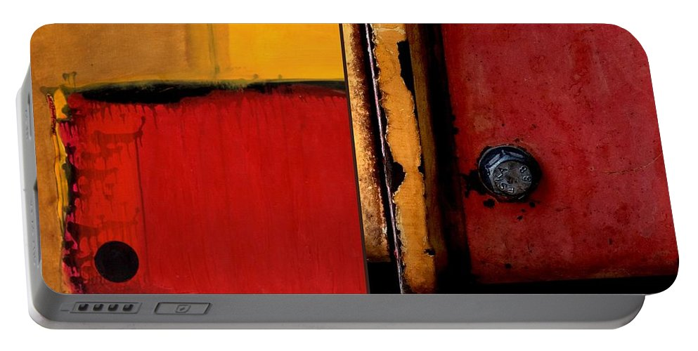 Machinery Portable Battery Charger featuring the painting p HOTography 133 by Marlene Burns