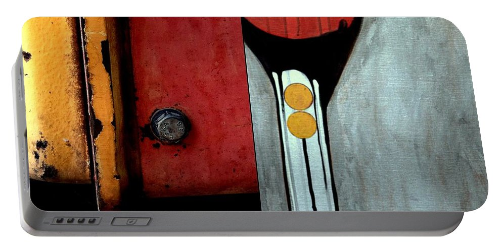 Machinery Portable Battery Charger featuring the painting p HOTography 134 by Marlene Burns