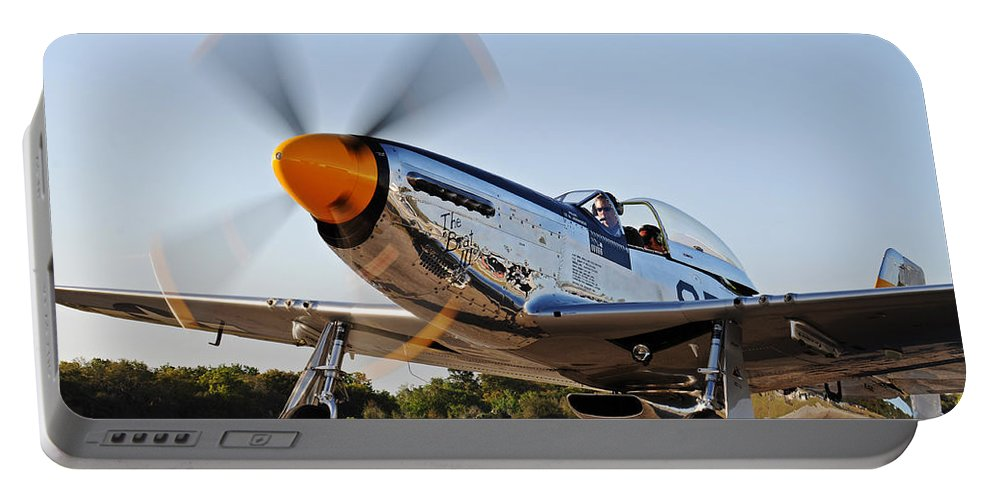 P51 Portable Battery Charger featuring the photograph P51 The Brat by David Hart