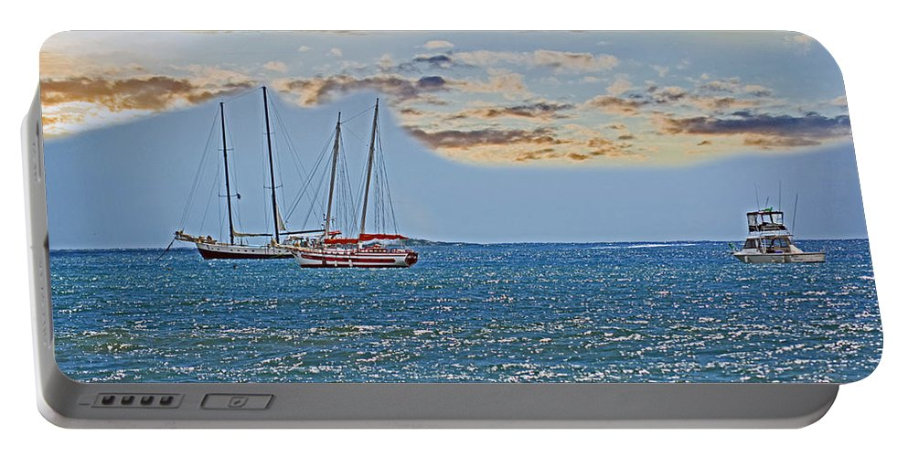 Boat Portable Battery Charger featuring the photograph Pacific Coast Costa Rica by Gary Keesler