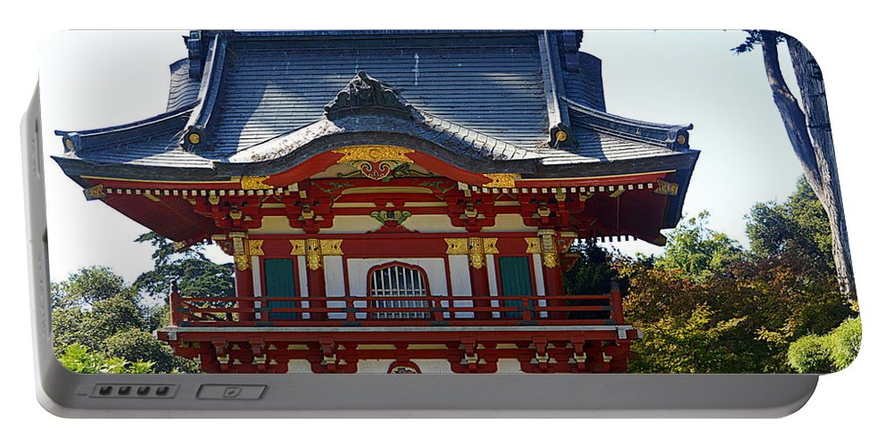 Scenic Portable Battery Charger featuring the photograph Pagoda by AJ Schibig
