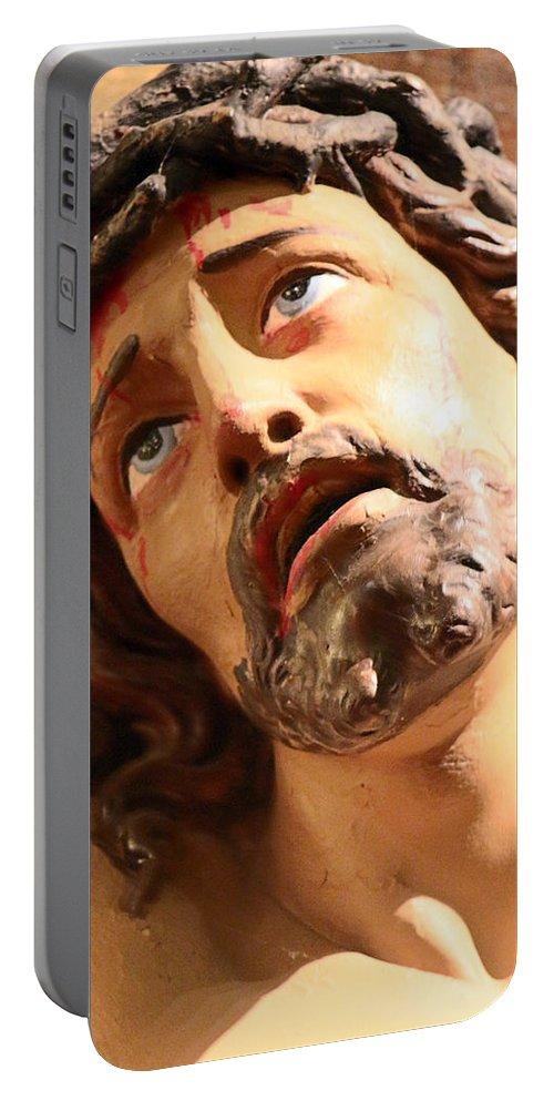 Jesus Portable Battery Charger featuring the photograph Pain by Munir Alawi