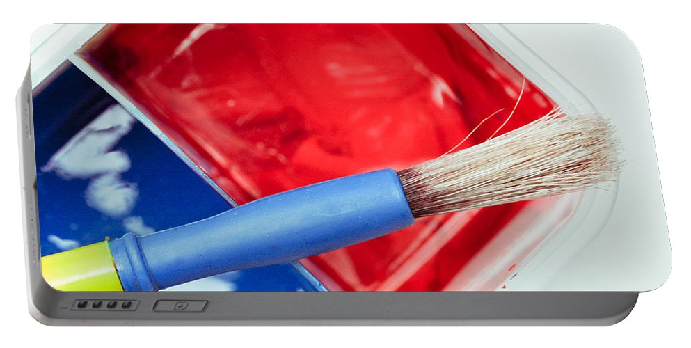 Art Portable Battery Charger featuring the photograph Paint Brush by Tom Gowanlock