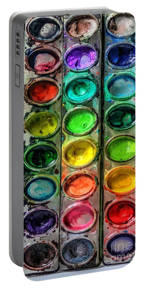 Paint Portable Battery Charger featuring the photograph Paint Well Loved by J M Lister