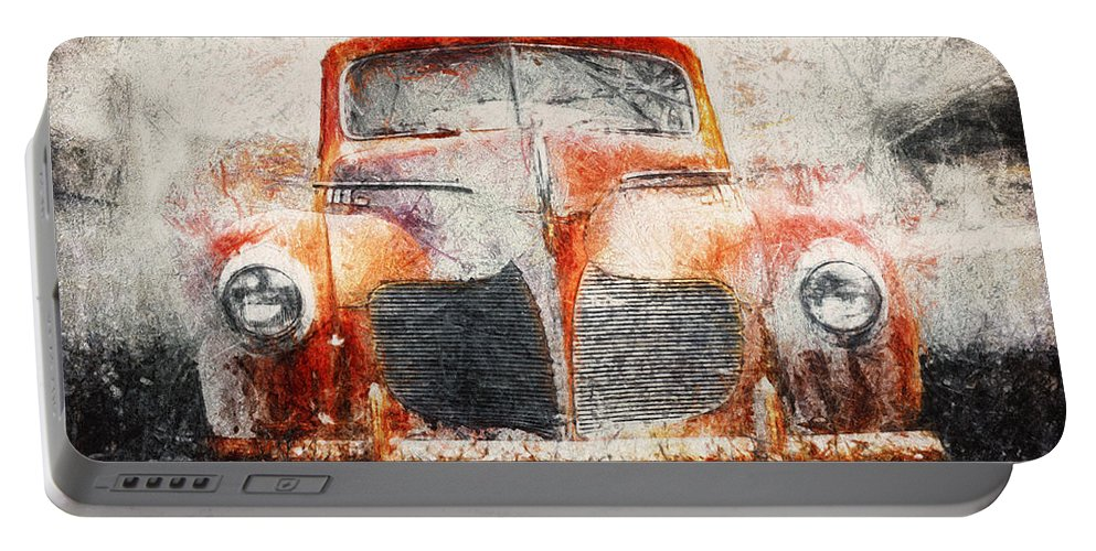 Desoto Portable Battery Charger featuring the photograph Painted 1940 Desoto Deluxe by Scott Norris