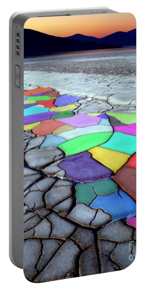 Dramatic Portable Battery Charger featuring the photograph Painted Desert by Edmund Nagele