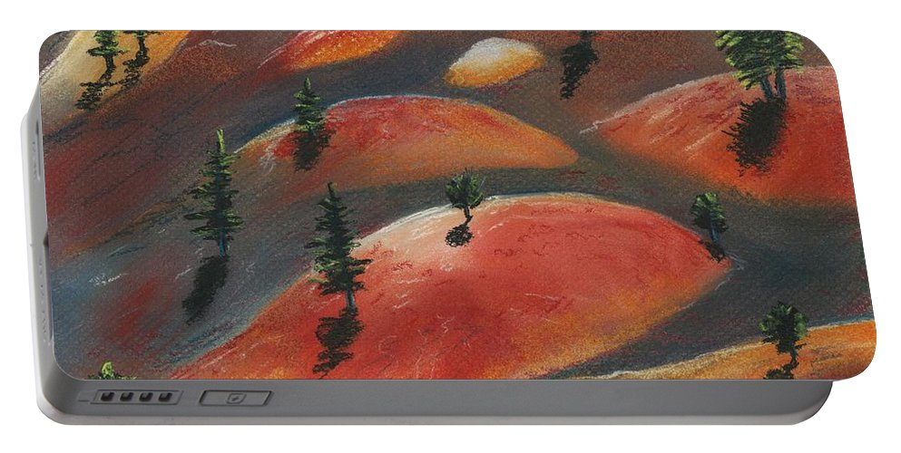 Famous Portable Battery Charger featuring the painting Painted Dunes by Anastasiya Malakhova
