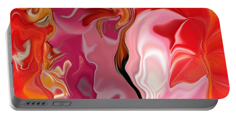 Face Art Portable Battery Charger featuring the digital art Painted Face's by Linda Sannuti