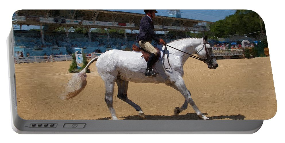 Gray Horse Portable Battery Charger featuring the photograph Painted Gray by Alice Gipson